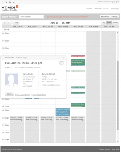 Calendar where you can manage all your appointments